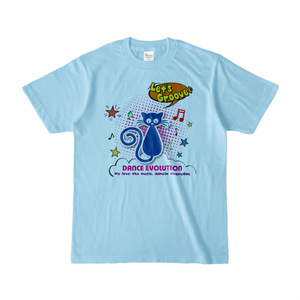 Let'sGroove カラーTシャツ(ブルー)