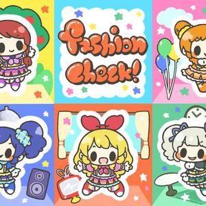 fashion check!ステッカー
