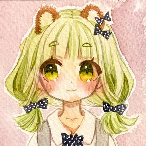【ミニ原画】抹茶