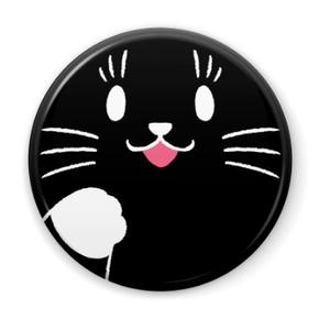 黒猫パーシーの缶バッジ 2種