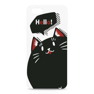 黒猫パーシーのiPhoneケース しろ(復刻版)