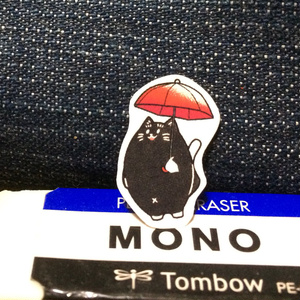 黒猫パーシーのフレークシール