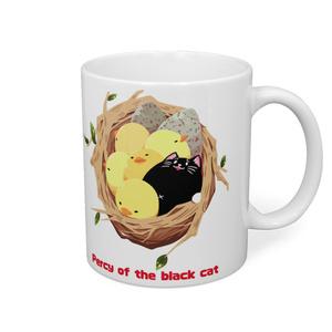 黒猫パーシーのマグカップ(復刻版)