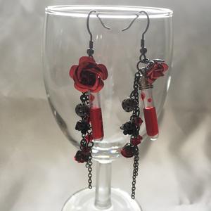 ★再販★薔薇と試験管のピアス