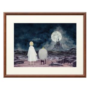 複製画「少女と小人」