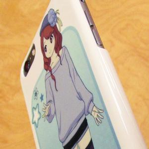 iPhoneケース(5,6,6 Plus用)「すごく頑張って無理して描いた女の子」