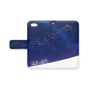 天体観測ライド 手帳型iPhoneケース ストラップ穴つき