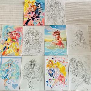 プリキュアコピック原画(ラフ付き)
