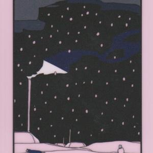 蛍光ステッカーピンクスノー