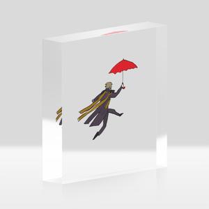 赤い傘と長谷部