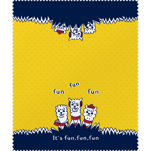fun fun funあるぱかイズムの黄色いメガネふき