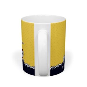 あるぱかイズムの黄色いマグカップ