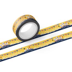 あるぱかイズムの黄色いガーランド柄のマスキングテープ