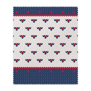MT19MF DZ01 小さなハート編み物風*紺と赤