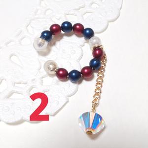 イヤーカフ(赤青1 2)