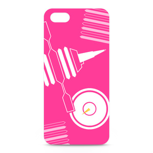 シャープマーカーデザインケース ピンク