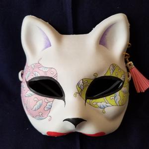 【ハンドメイド1点モノ】手作り和風半狐面[105926]