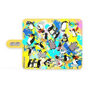 ★PGcafe★ペンギンandroid用手帳スマホケース -Mサイズ-