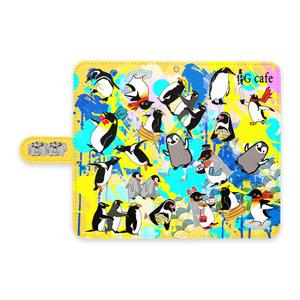 ★ぺんぎんカフェ★ペンギンandroid手帳スマホケース -Lサイズ-