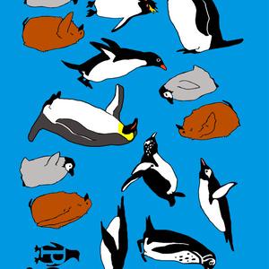 ★ペンギンカフェ★ペンギンブランケット