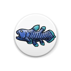 深海の生き物 シーラカンス 缶バッジ