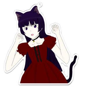 俺妹 黒猫(五更瑠璃)アクリルキーホルダー
