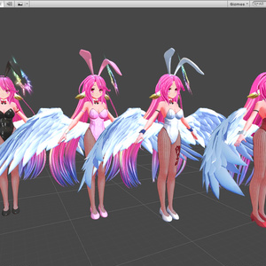 VRChat ジブリール [Jibril] - 3Dモデル + Bunny Suit ver.