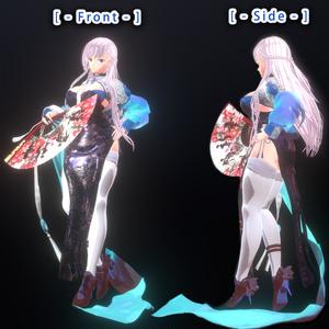 VRChat アバター ベルファスト 3Dモデル + PMX