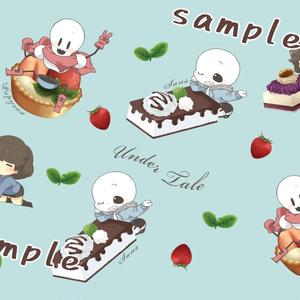 【UNDERTALE】パスケース@ケーキシリーズ