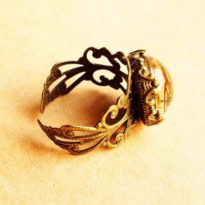 歯車水晶球の指輪