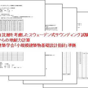 自沈層のあるSS試験結果からの地耐力計算