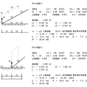 直交梁を考慮した木造地中梁計算