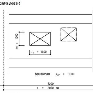 耐震壁開口補強の設計(RC規準2010)