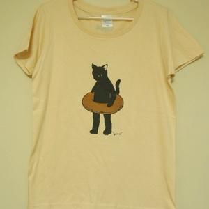 女性用TシャツMsize およぐねこ