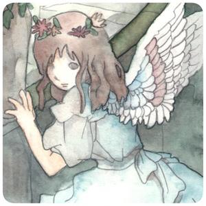 「天使」水彩ポストカード#02