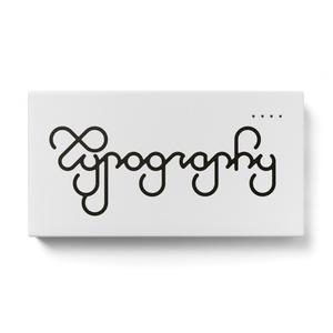 Typographyのモバイルバッテリー