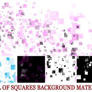 しゅわしゅわした四角だらけの背景素材高解像度