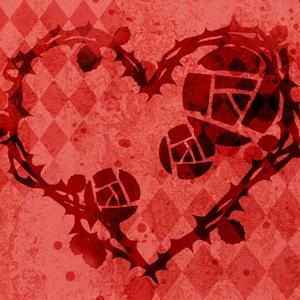 薔薇ハート背景素材高解像度