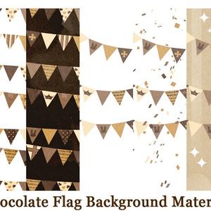 チョコレートカラーフラッグ背景素材高解像度