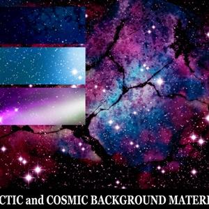 宇宙と銀河の背景素材高解像度01