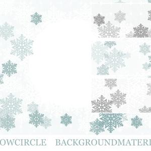 雪の結晶サークル背景素材高解像度
