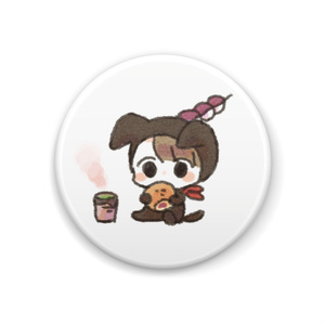 あんぱんお缶バッチ~お茶~