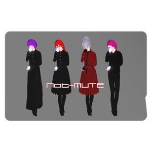 ヴィジュアル系バンドNot-MUTEのICカードステッカー③