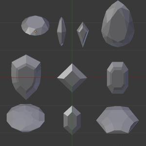 宝石10個セット (FBXのみ)