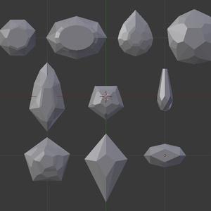 宝石10個セット 2 (FBXのみ)
