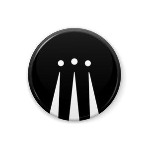メフィスト讃歌缶バッジ(黒)