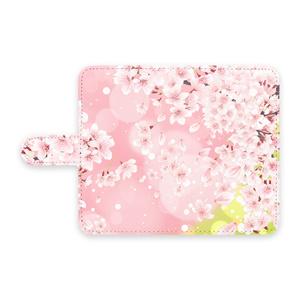 手帳型Androidケース 桜