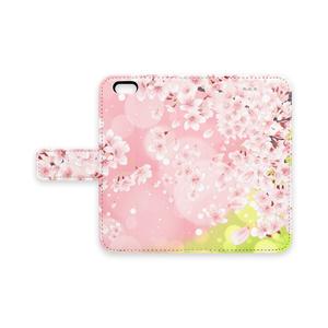 手帳型iPhoneケース - iPhone 6 / 6s  桜