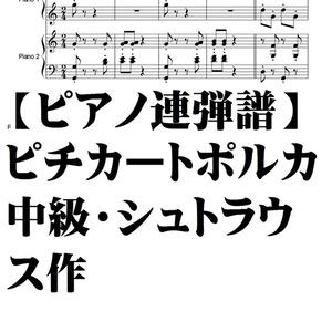 【ピアノ連弾譜】ピチカートポルカ・シュトラウス・中級