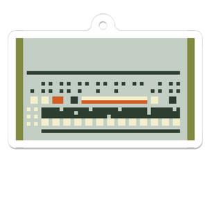 ドット絵 909 ドラムマシン キーホルダー